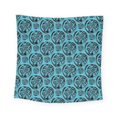 Turquoise Pattern Square Tapestry (small) by linceazul