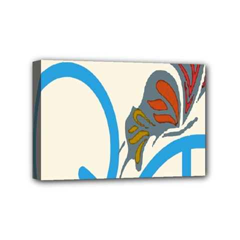 Butterfly Mini Canvas 6  X 4  by Mariart