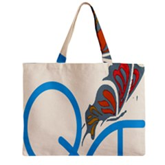 Butterfly Medium Zipper Tote Bag by Mariart