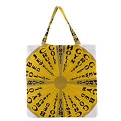 Wheel Of Fortune Australia Episode Bonus Game Grocery Tote Bag by Mariart