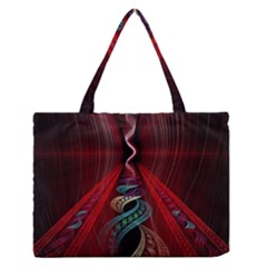 Artistic Blue Gold Red Medium Zipper Tote Bag by Mariart