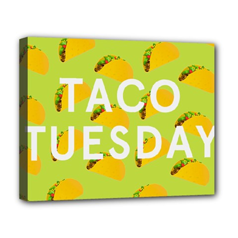 Bread Taco Tuesday Deluxe Canvas 20  X 16   by Mariart