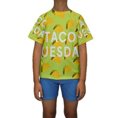 Bread Taco Tuesday Kids  Short Sleeve Swimwear by Mariart