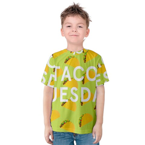 Bread Taco Tuesday Kids  Cotton Tee by Mariart