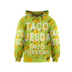 Bread Taco Tuesday Kids  Zipper Hoodie by Mariart