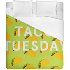 Bread Taco Tuesday Duvet Cover (california King Size) by Mariart