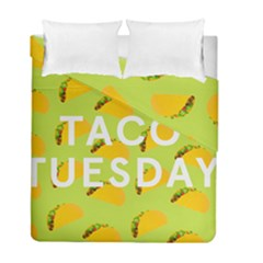 Bread Taco Tuesday Duvet Cover Double Side (full/ Double Size) by Mariart
