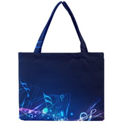 Abstract Musical Notes Purple Blue Mini Tote Bag by Mariart
