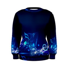 Abstract Musical Notes Purple Blue Women s Sweatshirt