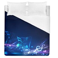 Abstract Musical Notes Purple Blue Duvet Cover (queen Size) by Mariart