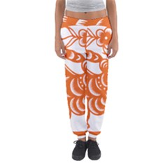 Chinese Zodiac Signs Tiger Star Orangehoroscope Women s Jogger Sweatpants by Mariart