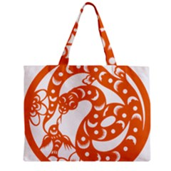 Chinese Zodiac Horoscope Snake Star Orange Zipper Mini Tote Bag by Mariart