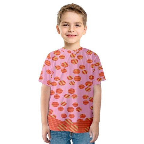 Distance Absence Sea Holes Polka Dot Line Circle Orange Chevron Wave Kids  Sport Mesh Tee by Mariart