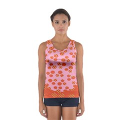 Distance Absence Sea Holes Polka Dot Line Circle Orange Chevron Wave Women s Sport Tank Top  by Mariart