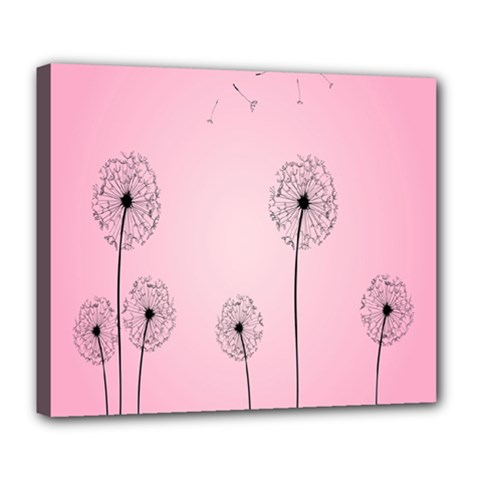 Flower Back Pink Sun Fly Deluxe Canvas 24  X 20