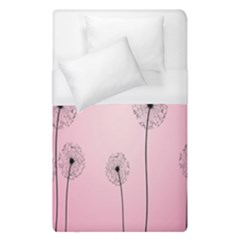 Flower Back Pink Sun Fly Duvet Cover (single Size) by Mariart