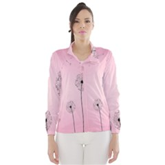 Flower Back Pink Sun Fly Wind Breaker (women) by Mariart