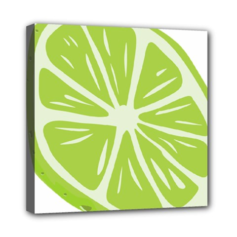 Gerald Lime Green Mini Canvas 8  X 8  by Mariart
