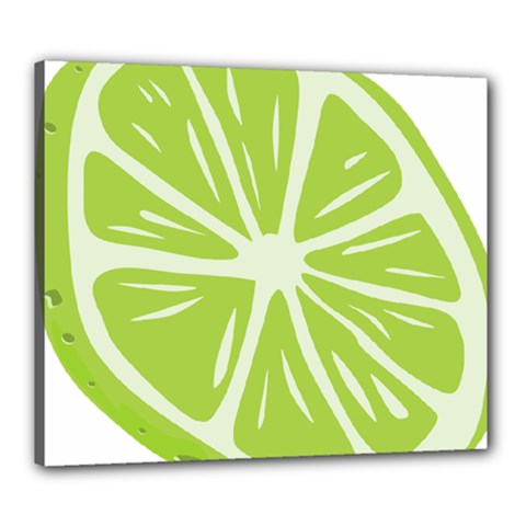 Gerald Lime Green Canvas 24  X 20  by Mariart