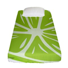 Gerald Lime Green Fitted Sheet (single Size) by Mariart