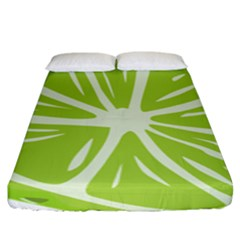 Gerald Lime Green Fitted Sheet (king Size) by Mariart