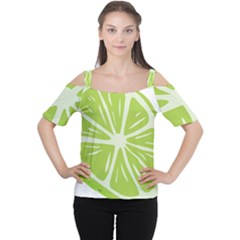 Gerald Lime Green Women s Cutout Shoulder Tee by Mariart