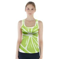Gerald Lime Green Racer Back Sports Top