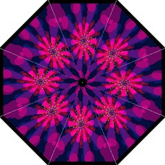 Flower Red Pink Purple Star Sunflower Folding Umbrellas by Mariart