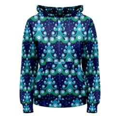 Christmas Tree Snow Green Blue Women s Pullover Hoodie by Mariart