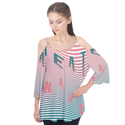 Heat Wave Chevron Waves Red Green Flutter Tees by Mariart