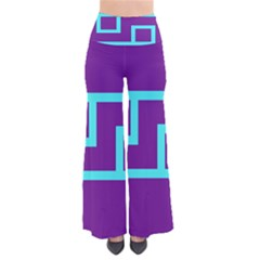 Illustrated Position Purple Blue Star Zodiac Pants by Mariart