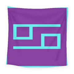 Illustrated Position Purple Blue Star Zodiac Square Tapestry (large) by Mariart