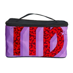 Illustrated Zodiac Purple Red Star Polka Cosmetic Storage Case by Mariart
