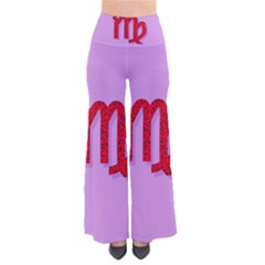 Illustrated Zodiac Purple Red Star Polka Pants by Mariart