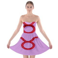 Illustrated Zodiac Purple Red Star Polka Circle Strapless Bra Top Dress by Mariart