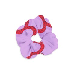 Illustrated Zodiac Purple Red Star Polka Circle Velvet Scrunchie by Mariart