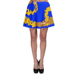 Illustrated 69 Blue Yellow Star Zodiac Skater Skirt by Mariart