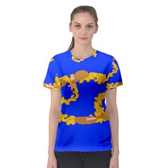 Illustrated 69 Blue Yellow Star Zodiac Women s Sport Mesh Tee