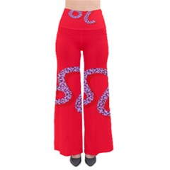 Illustrated Zodiac Red Purple Star Polka Dot Pants by Mariart