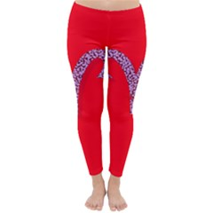 Illustrated Zodiac Red Star Purple Classic Winter Leggings by Mariart