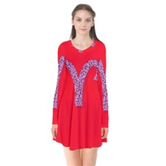 Illustrated Zodiac Red Star Purple Flare Dress by Mariart