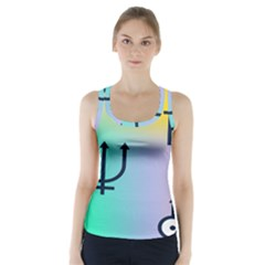 Illustrated Zodiac Star Racer Back Sports Top