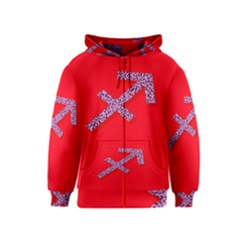 Illustrated Zodiac Star Red Purple Kids  Zipper Hoodie by Mariart