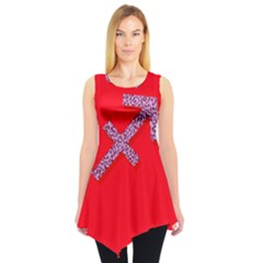 Illustrated Zodiac Star Red Purple Sleeveless Tunic by Mariart