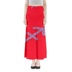 Illustrated Zodiac Star Red Purple Maxi Skirts by Mariart