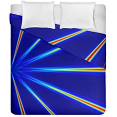 Light Neon Blue Duvet Cover Double Side (california King Size) by Mariart