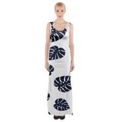 Leaf Summer Tech Maxi Thigh Split Dress