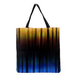 Light Orange Blue Grocery Tote Bag