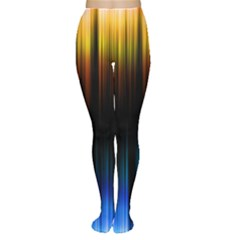 Light Orange Blue Women s Tights by Mariart