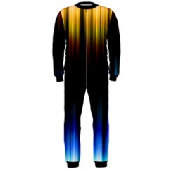 Light Orange Blue Onepiece Jumpsuit (men)  by Mariart